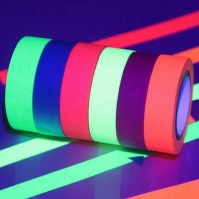 UV Reactive Tape Blacklight Fluorescent Cloth Glow in The Dark Neon Gaffer Tape - Glow In The Dark Blacklight
