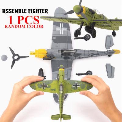 1Pcs Random Color Bf-109 German WW2 Fighter Plastic Assemble Model Kit 1/48
