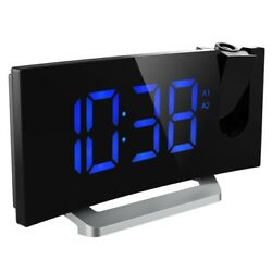 Mpow Arc Led Projection Alarm Clock with USB Charger Radio Snooze Dual Alarm
