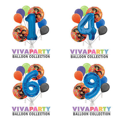 8 pc Coco Hector Round Balloon Bouquet Birthday Party Decoration](Coconut Decorations)