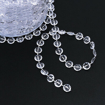 10M Crystal Clear Glass Bead String Hanging Pendant Party Door Curtain Stylish