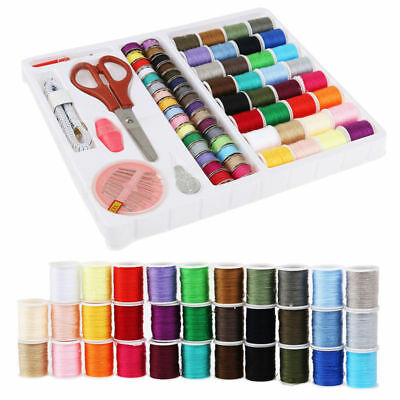 Sewing Machine 100 Piece Thread Set Sewing Machine Spool Bobbin Set Kit Reel