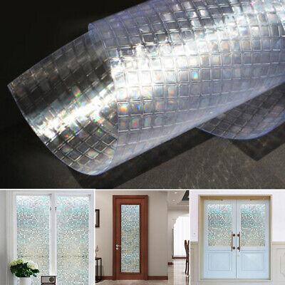 Autoadhesivo Mosaico 3D Cristal Ventana Pegatina Refractiva Decoración Hogar