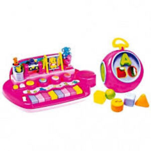 piano rose seulement $12.,jouets et jeux,19 animaux,barby,IQ