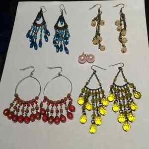 5 pairs of pierced earrings * BRAND NEW * NEVER WORN *