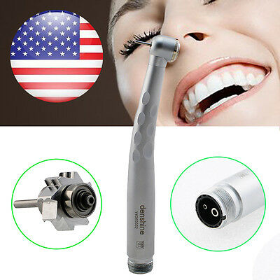Free Shipping Dentist Dental High Fast Speed Handpiece Push Button 3-way 2 Holes