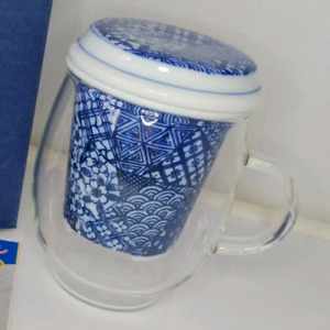 *New* Aritayaki tea strainer with glass cup (Vintage)