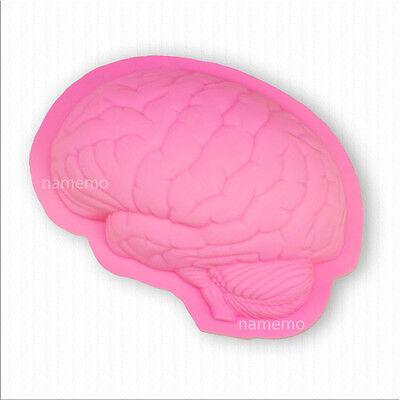 Silicone Large Brain Mold for Chocolate Jelly Cake Pan Halloween Creepy Scary - Halloween Brain Cake Pan