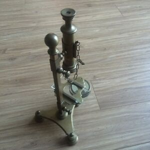 Vintage Brass Microscope   Made in Italy