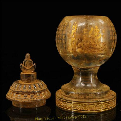 Collect old Temple crystal Sharipu Buddhist relic pot Sarira Buddhist relic