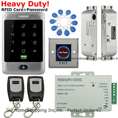Waterproof RFID Card and Password Door Access Control System+Electric Bolt Lock