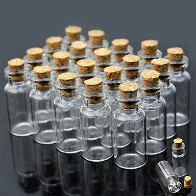 Small Glass Jars Bulk (Mini Small Cute Wishing Bottle Cork Stopper Glass Vial Jars Containers Bulk)