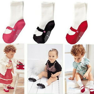chaussettes b b chaussons chaussures antid rapant anti glisse fille souple ebay. Black Bedroom Furniture Sets. Home Design Ideas