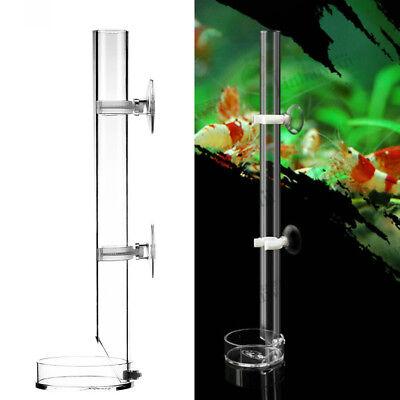 Aquarium Acrylic Shrimp  Feeder Tube Feeding Dish Plate Craw Fish Casting Tube A