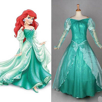 Little Mermaid Dresses For Adults (Halloween Costumes for Adult The Little Mermaid Ariel Costume Princess Dress)