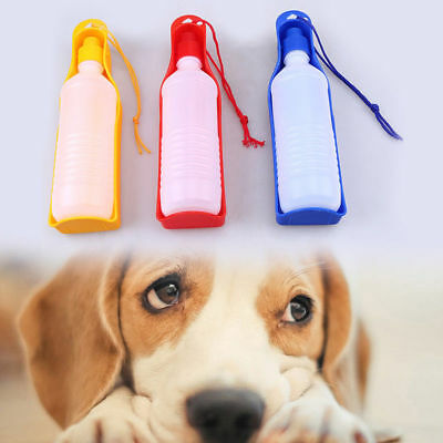 Dog Portable Travel Water Bottle Dispenser Drinking Container with a Dog -