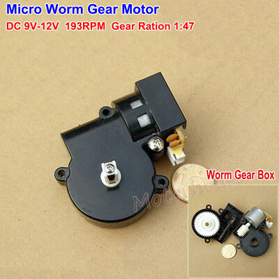 Dc 6v 12v 193rpm Micro Worm Gear Motor Small Turbo Gearbox Reduction Diy Parts