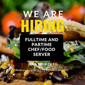 Food server/Chef needed