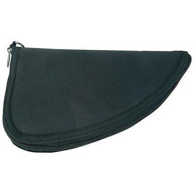 BLACK Pistol Soft Padded Rug Case Hand Gun Storage w/ Zippered Carry Pouch -