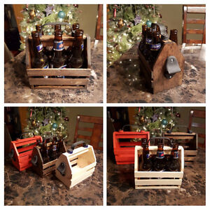 BEER TOTE WITH BOTTLE OPENER $30.00
