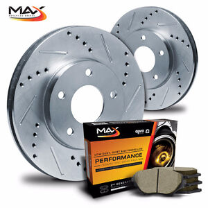 Max Performance Slot, Drilled Rotors with Free Shipping & Pads