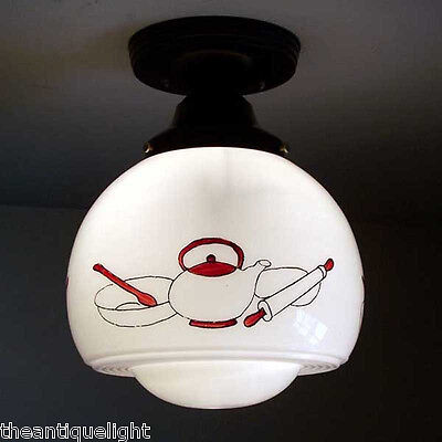 198 Vintage Ceiling Light Lamp Fixture Re-Wired kitchen