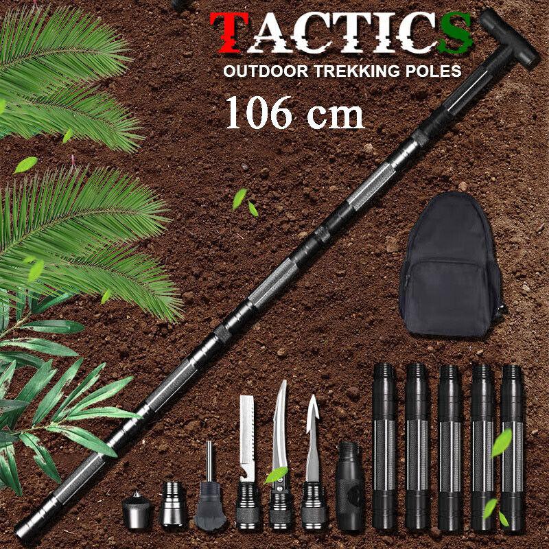 106cm Survival Hiking Stick Trekking Pole Cane Outdoor Camping Walking Cane Tool
