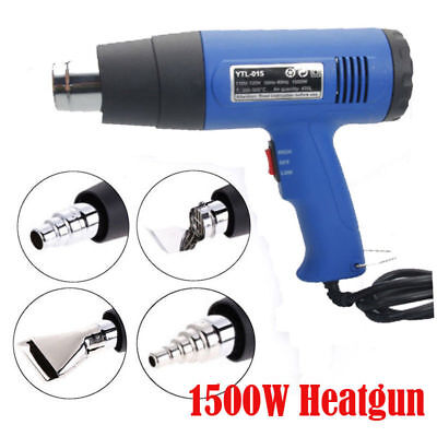 Dual Temperature Heat Gun Hot Air Wind Blower Soldering Station 1500w 4 Nozzles