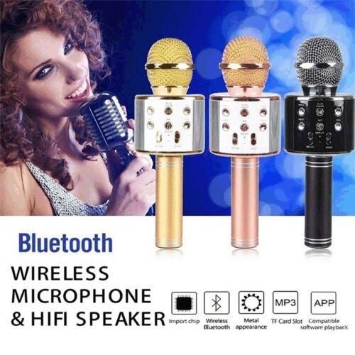 Wireless Music Microphone Home Karaoke Mic USB KTV Player Bl