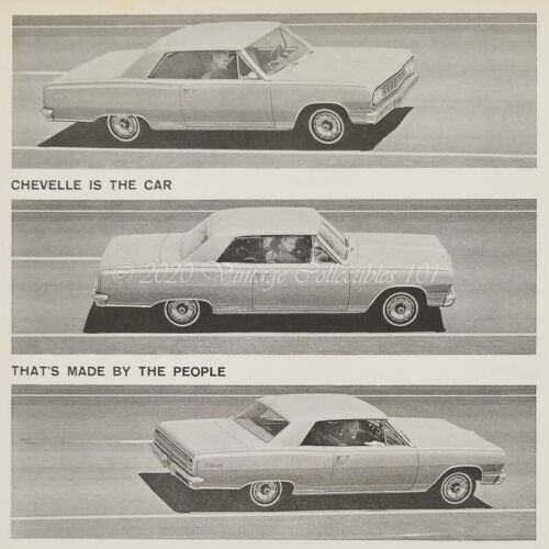 1964 Chevrolet Chevy Chevelle Malibu SS Super Sport car photo art decor print ad