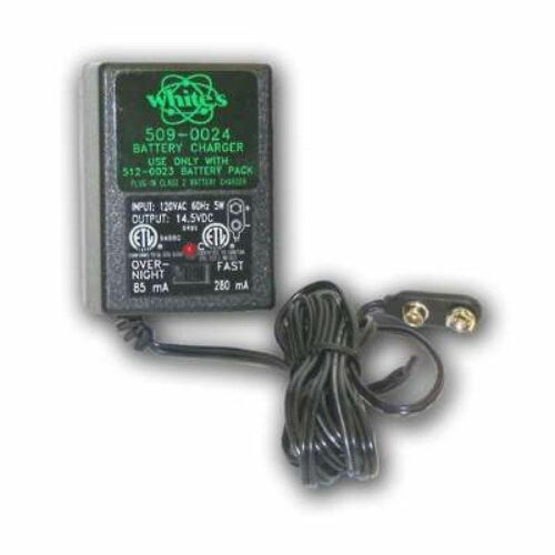 Whites Metal Detector 10 Cell Fast/Trickle Charger for 512-0023 Battery 509-0024
