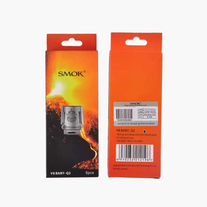 5Pack SMOK TFV8 Baby M2 / Big Baby Beast Coils V8 / Q2 / X4 / T8 (US NEW) LOT