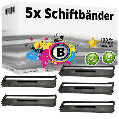 5x Farbband Schriftbandkassette für Epson LQ 500 550 560 570 580 800 SET - Epson Farbband Kassette
