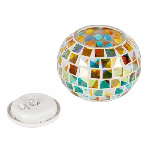 Waterproof Solar Powered Mosaic Glass Ball Garden Lights Out