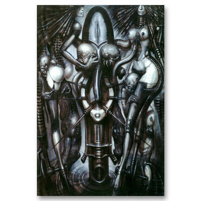 Witches Dance HR Giger Artwork Abstract Canvas Poster Art Prints