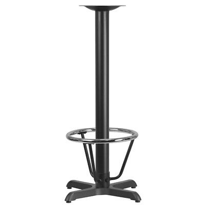 22 X 22 Restaurant Table X-base With 3 Dia. Bar Height Column And Foot ...