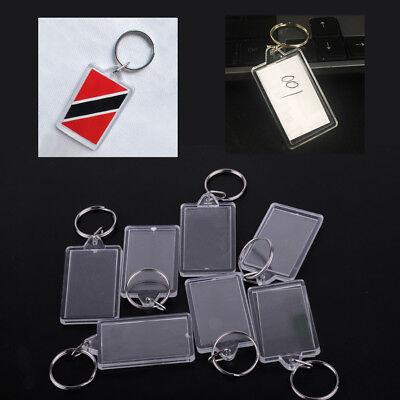 20x Leere acryl Schlüsselanhänger Leer Foto Acryl klar Frame Keychain Geschenk