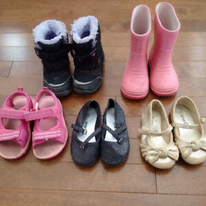 6 Pairs of Girls Shoes/Boots/Sandals