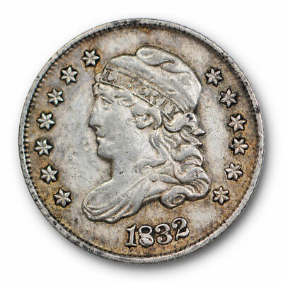 1832 Capped Bust Half Dime Extra Fine XF Filled 8 US Type Coin #5382