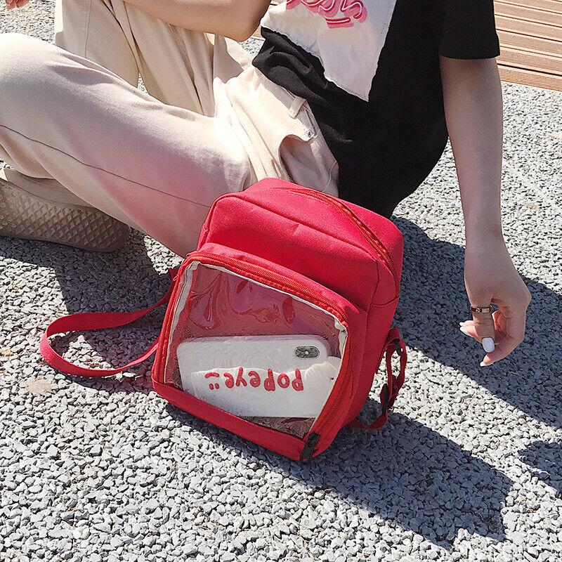 Ita Bag DIY Transparent Backpack Kawaii Harajuku Schoolbags