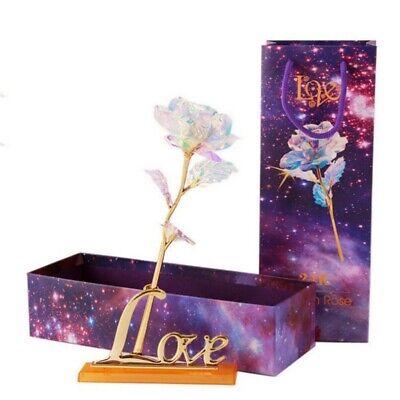 24K Gold Foil Rose Flower Romantic Love Gift For Mother Girl