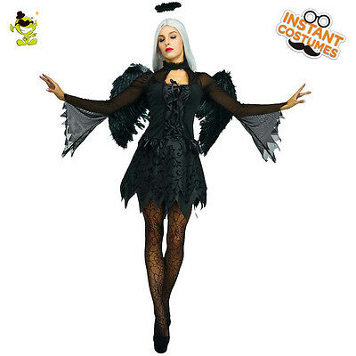 Women Fallen Angel Dress Costume Black Fallen Dark Angel Fancy Christmas Costume - Fallen Dark Angel Costume