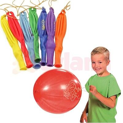 LARGE PUNCH BALLOONS BOUNCY BOYS GIRLS TOY PARTY BAG CHRISTMAS STOCKING FILLER