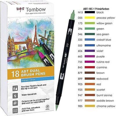 Tombow Dual Brush Pen ABT-18C-1 Grundfarben