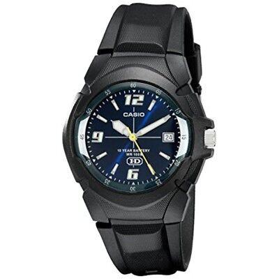 Casio Men's Quartz 10-Year Battery Black Resin Strap Watch MW600F-2AV