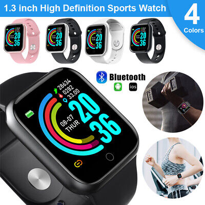 Waterproof Smart Watch Health Monitor Heart Rate Record Blue