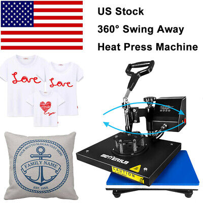 9x12swing Away Digital Heat Press Machine Transfer Printing T-shirt Mat Flat