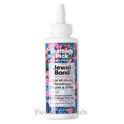 Jewel Bond Adhesive Glue For Jewelry Rhinestone Flat Backs on Fabric and Cloth (Bond Fabric Glue)