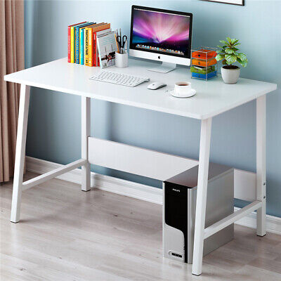 Small White Corner Computer Desk PC Table Home Office Laptop Kids Study Desktop