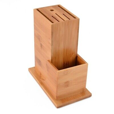 Multi-Functional Knife Storage Tool Supplies Bamboo Block 6 Knife Slot Stor Q1R3 Bamboo Knife Storage Block